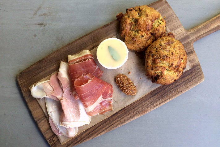 Ham N' Biscuit Board at Ford's Filling Station